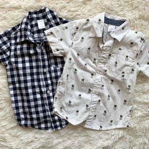 Boys button up shirt set